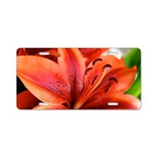 Orange Lilly  Aluminum License Plate