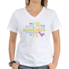 Appendix Cancer Colorful Slogans T-Shirt