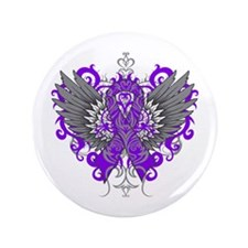"Cystic Fibrosis Wings 3.5"" Button"
