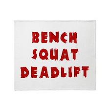 Bench Squat Deadlift Throw Blanket