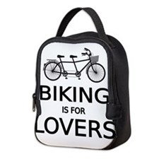 biking is for lovers Neoprene Lunch Bag