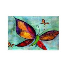 Butterfly Art Rectangle Magnet