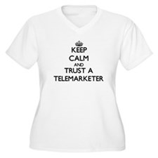 Keep Calm and Trust a Telemarketer Plus Size T-Shi