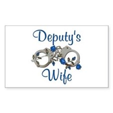 Deputy's Wife Rectangle Decal