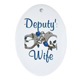 Deputy's Wife Oval Ornament