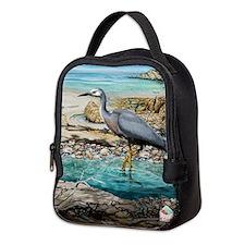 White Faced Heron Neoprene Lunch Bag