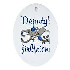 Deputy's Girlfriend Oval Ornament
