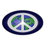 Peace on Earth Sign (Bumper Sticker)