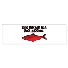 Red Herring sticker Bumper Bumper Sticker