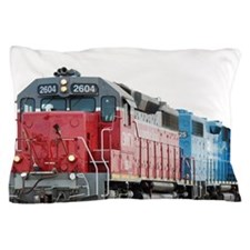 Train Blanket Blank Pillow Case