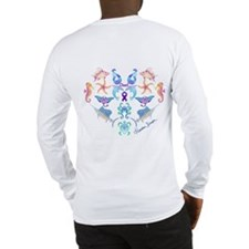 Cheri's Ocean Heart Long Sleeve T-Shirt