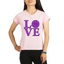 purple, Basketball LOVE Performance Dry T-Shirt