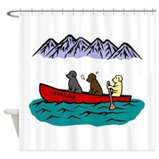 Labrador Adventure Shower Curtain