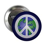Earth Peace Sign Button (100 pack)