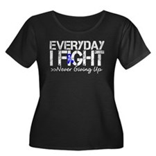Rectal Cancer Every Day I Fight Plus Size T-Shirt