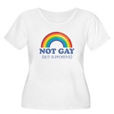 Gay Humor not gay blue Plus Size T-Shirt