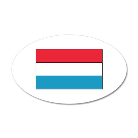 Flag of Luxembourg - NO Text 20x12 Oval Wall Decal