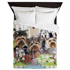 OwnedByYorkiesII Queen Duvet