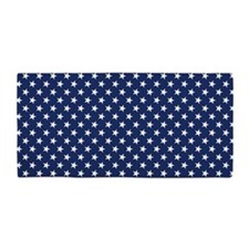 White Stars Beach Towel