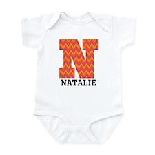 Personalized N Monogram Infant Bodysuit