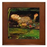 Ophelia by Millais Framed Tile