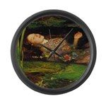 Ophelia by Millais Large Wall Clock