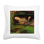 Ophelia by Millais Square Canvas Pillow
