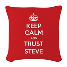 Trust Steve Woven Throw Pillow