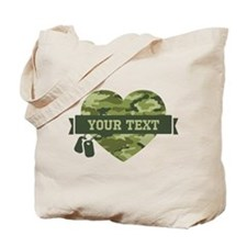 PD Army Camo Heart Tote Bag