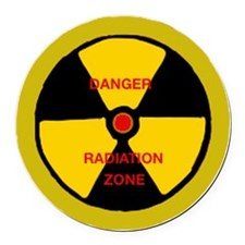 Radiation zone Round Car Magnet