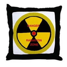 Radiation zone Throw Pillow