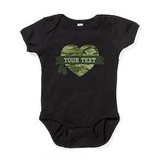 PD Army Camo Heart Baby Bodysuit