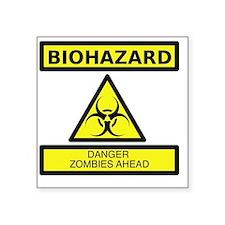 "Biohazard Square Sticker 3"" x 3"""