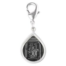 Full of Joy Silver Teardrop Charm