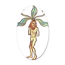 Mandrake man Oval Car Magnet