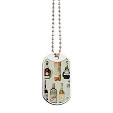 Vintage Liquor Bottles Dog Tags
