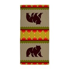 Woodland Bear Beach Towel