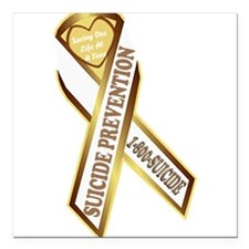 "Suicide Awareness Square Car Magnet 3"" x 3"""