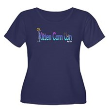 Kitten Cam Con Women's Scoop Plus Size T-Shirt