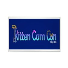 Kitten Cam Con Fridge Magnets