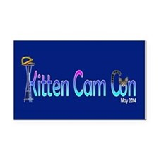 Kitten Cam Con Small 5 X 3 Rectangle Car Magnet