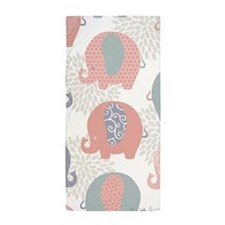 Cute Elephants Beach Towel