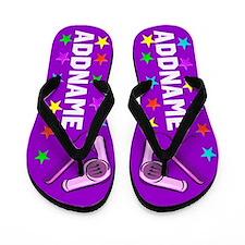 Purple Stylist Flip Flops