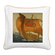Viking Ship Square Canvas Pillow