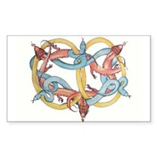 Dragons and Snakes Entwined Eternal Decal