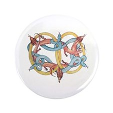 "Dragons and Snakes Entwined Eternal 3.5"" Button"