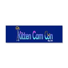 Kitten Cam Con Large Car Magnet 10 X 3