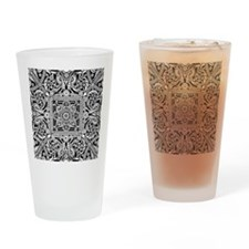 Art Deco Geo Floral Drinking Glass