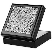 Art Deco Geo Floral Keepsake Box
