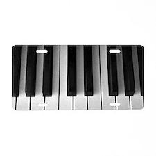 Piano Keys: Aluminum License Plate